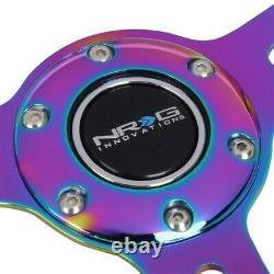 White Wood/Neo Chrome Slit Holes ST-310WT-MC NRG Wheel+Horn+TYA-D02 Phone Mount